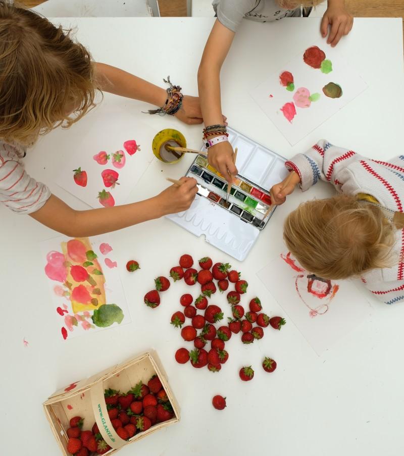 Stillleben mit Kindern malen