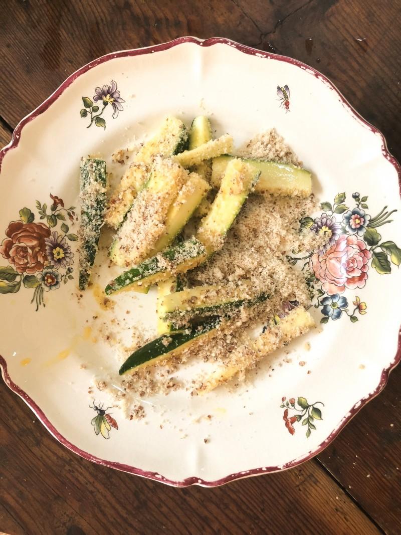 Zucchini, Pomme selbst machen, Gemüse Pommes