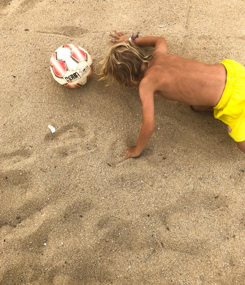 Spiele am Strand,