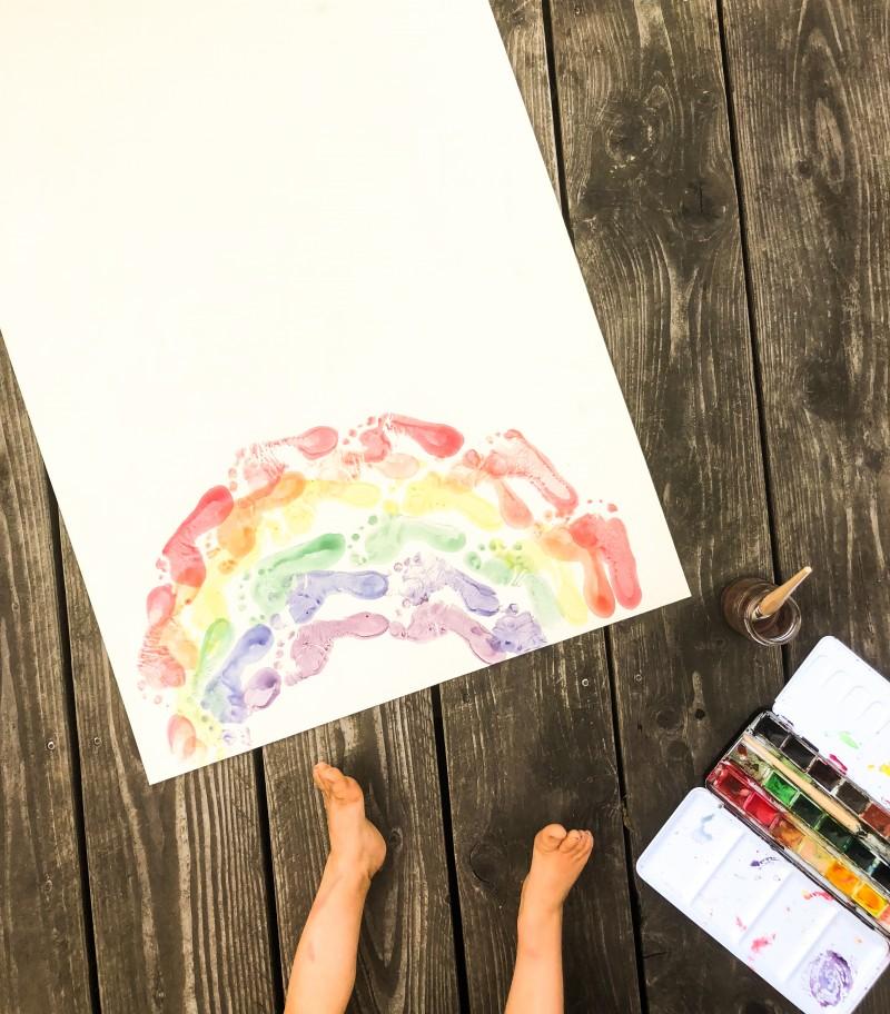 Kindergeburtstag, Regenbogen