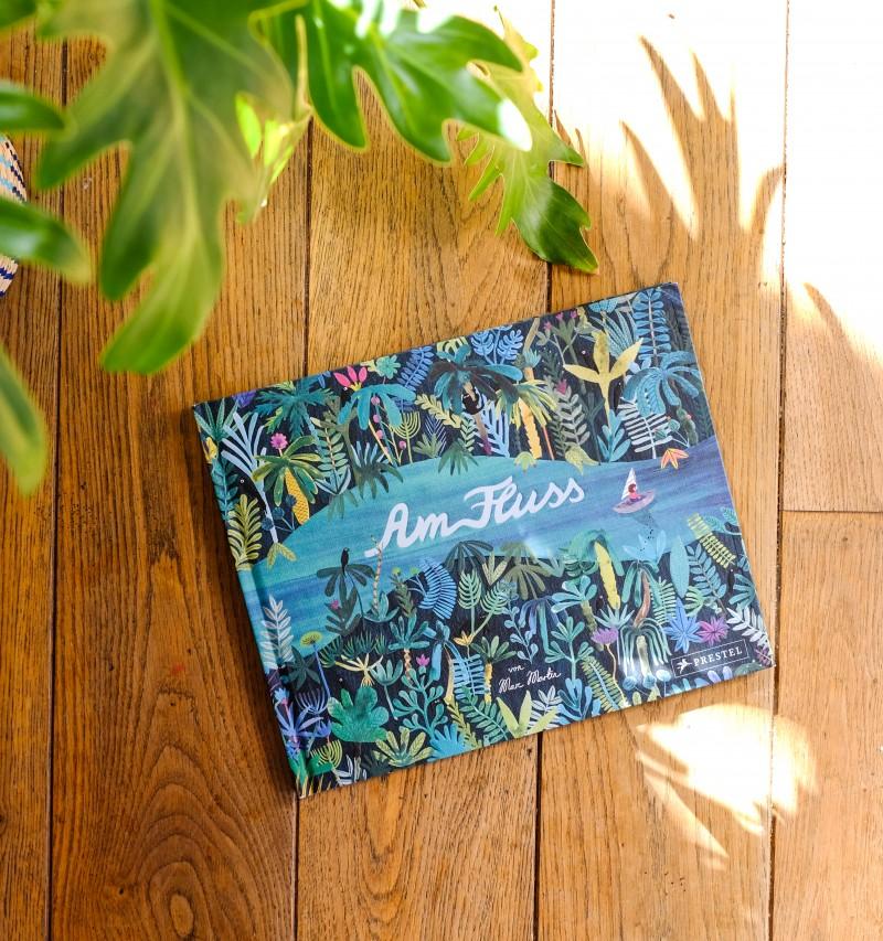 Diy, Fluss malen, schönes Bilderbuch