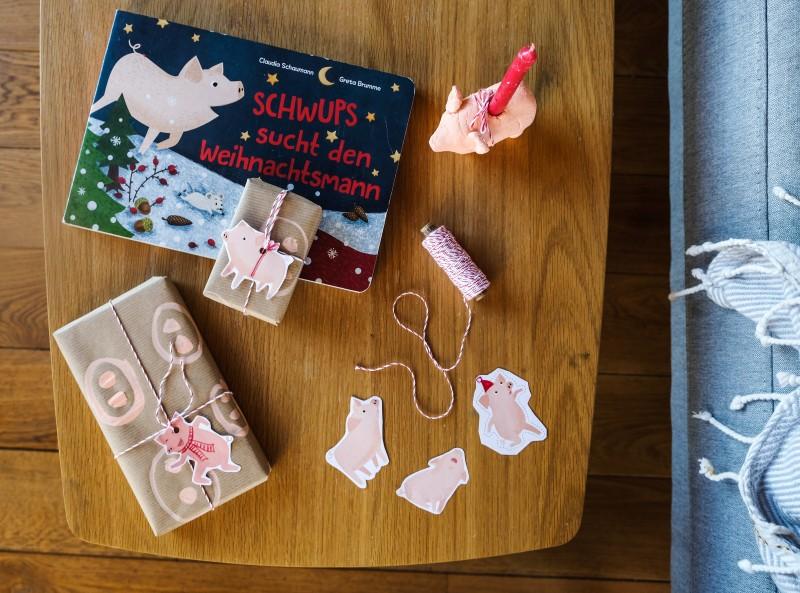 Geschenkanhänger, Weihnachtsschweine