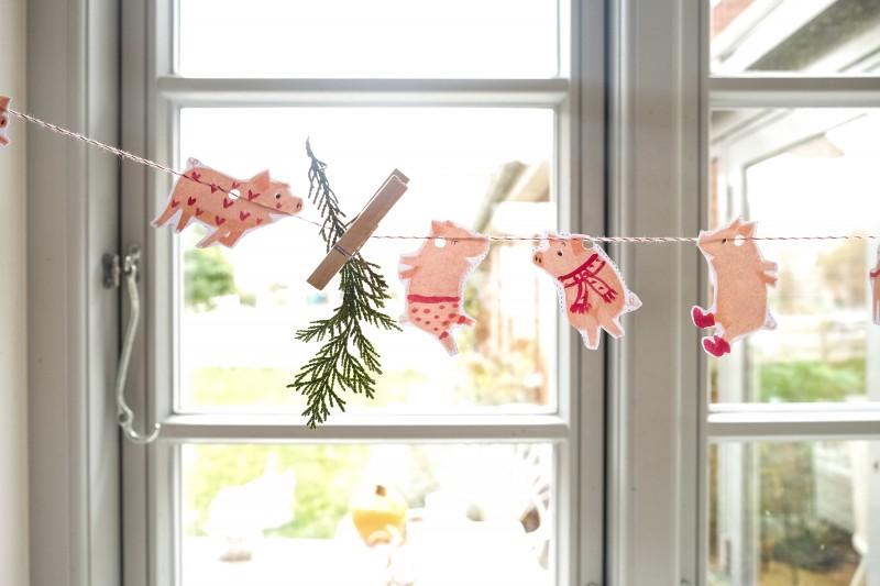 schwups sucht den Weihnachtsmann, Weihnachtsgirlande