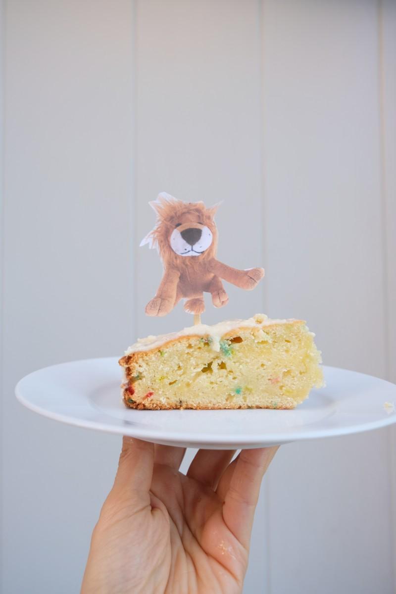 Löwentorte, vierter Geburtstag, Kindergeburtstag