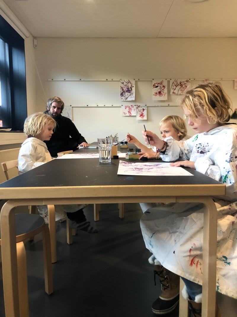 Action Painting mit Kindern, Klatschbilder