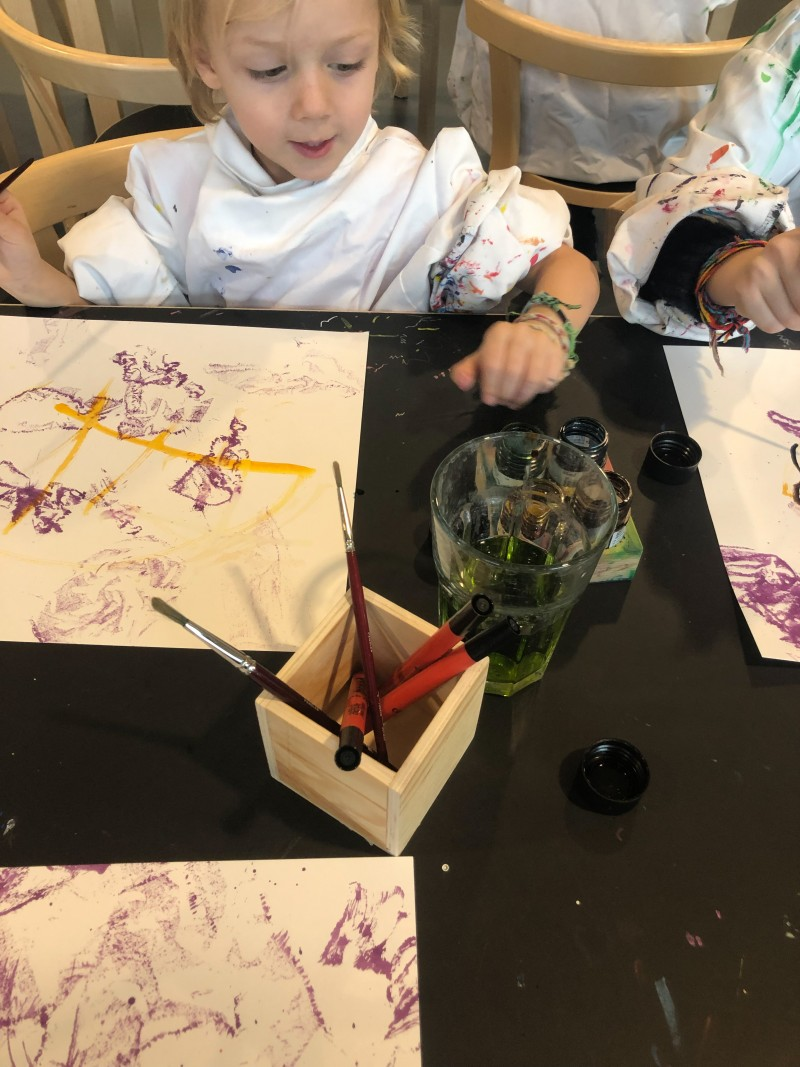 Malen mit Kindern, Action Painting mit Kindern