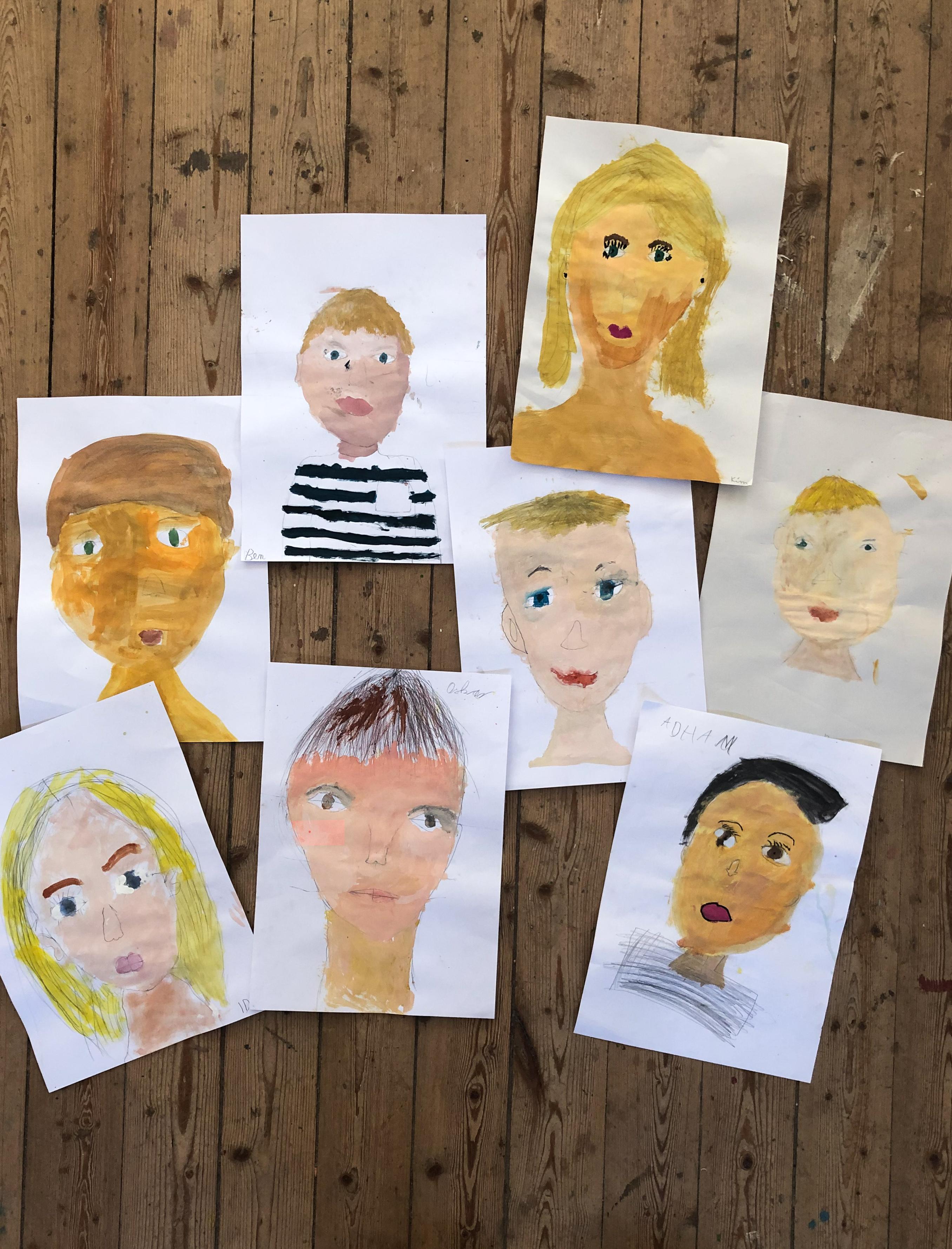 Selbstportrait Grundschule, Zeichenkurs, Selbstportrait zeichnen