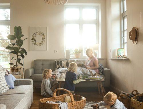Eine schöne Idee für ganz besondere Babyfotos. Oder: Magie für ein Möbelstück