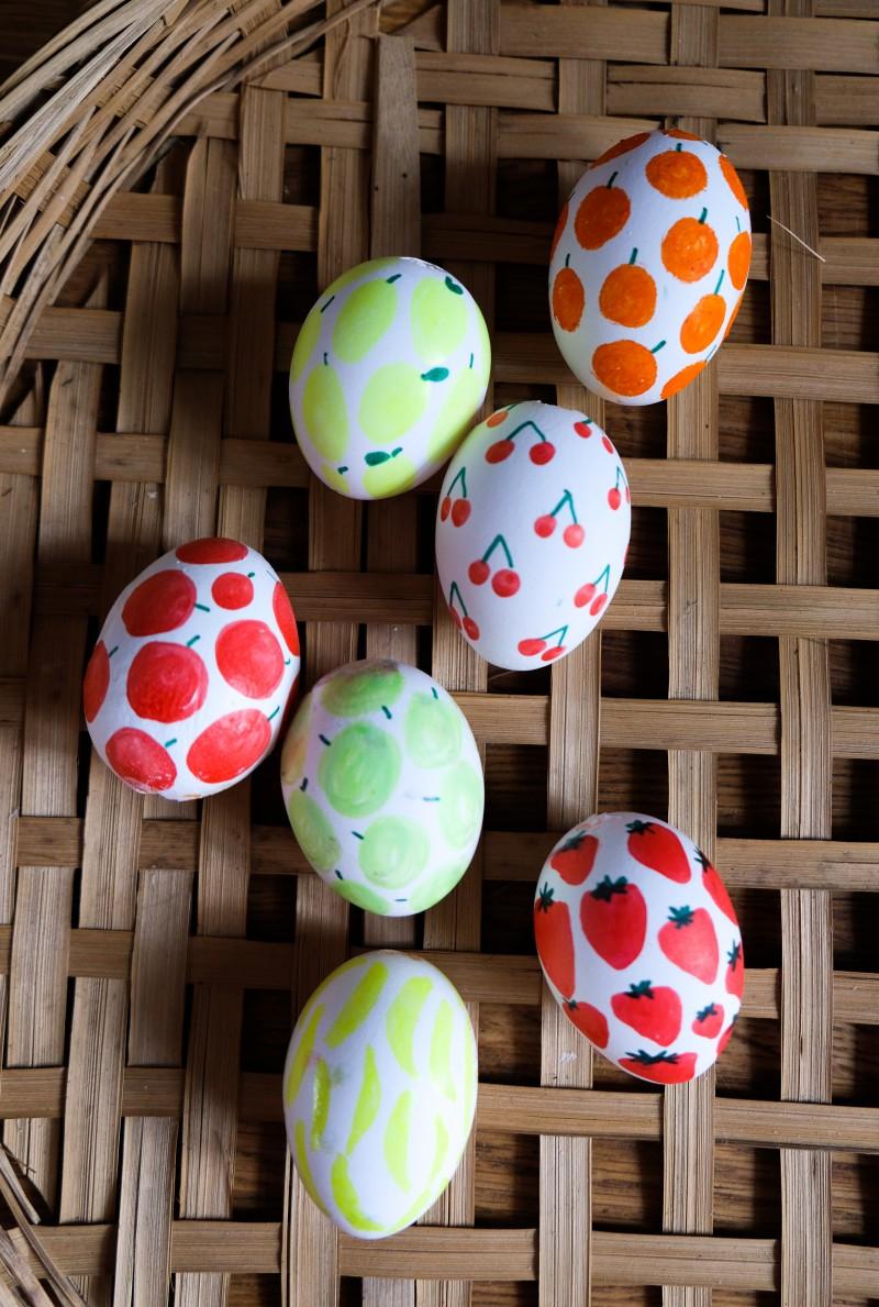 Folklore Eier, Siebziger Jahre Eier, Retro Eier