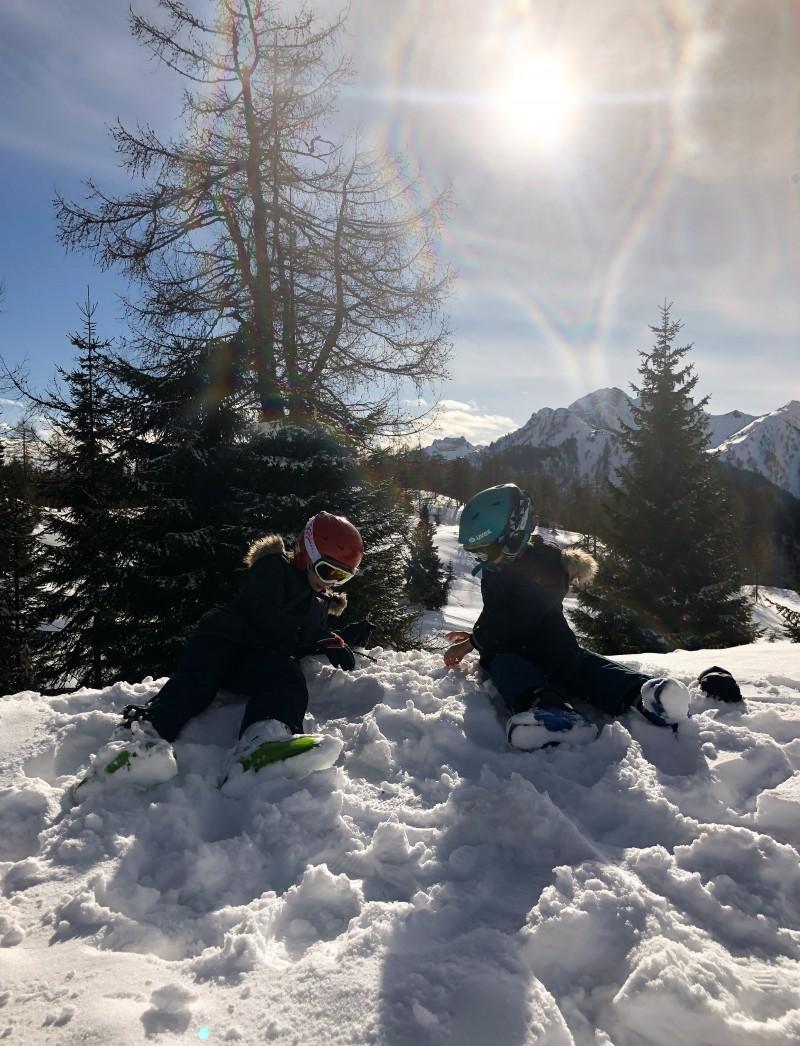 Skifahren mit Kindern, Schnee