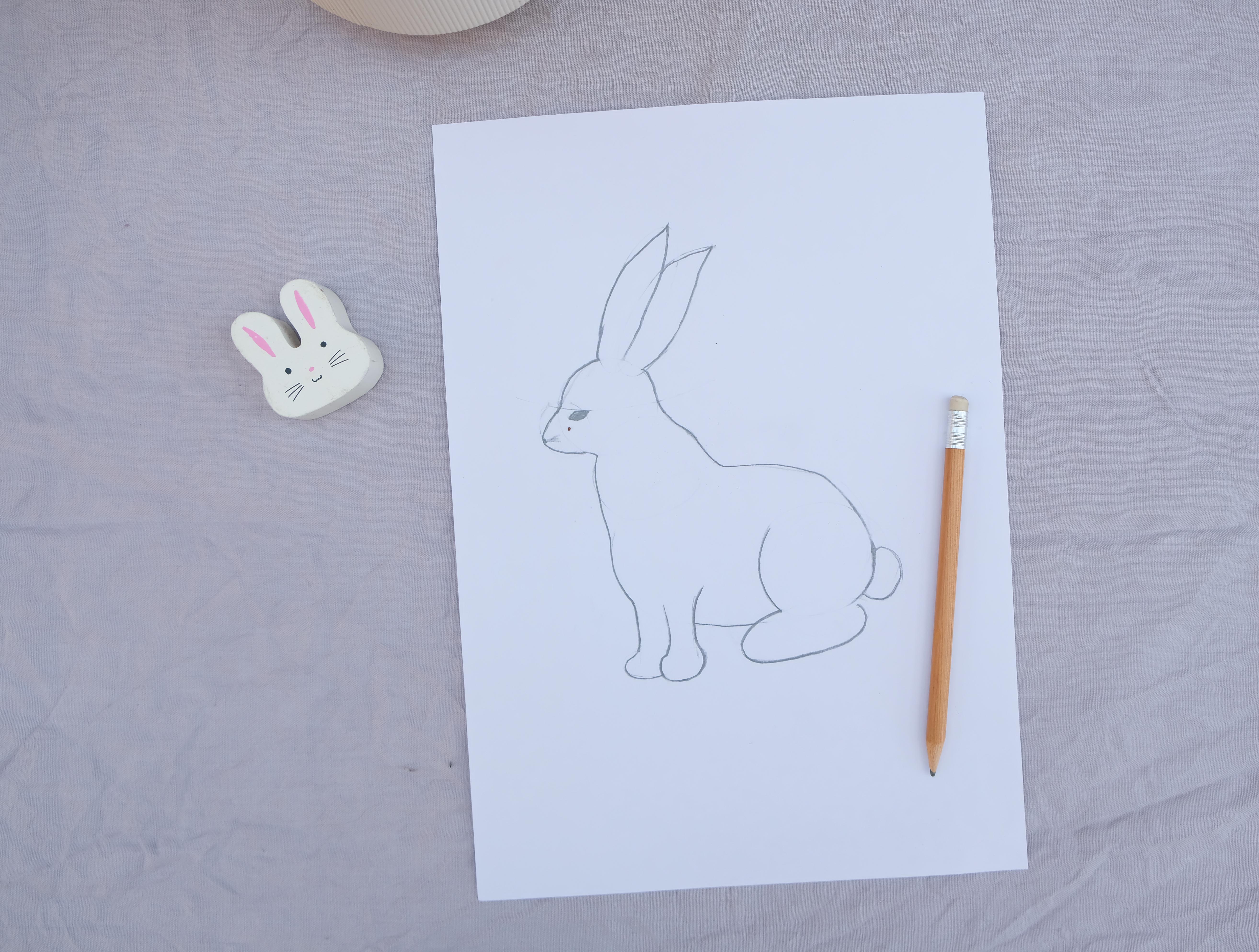 Easypeasy Naturalistische Osterhasen Zeichnen Plus Ein