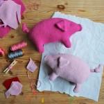 Ahhhh, wie toll: Ein süßes Kuschelschwein namens Schwups zum Selbernähen!
