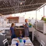 Fixe Ferienküche über den Dächern von Ostuni: Mini-Mozzarella-Auberginen-Pizza
