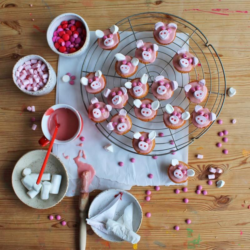 Kindergeburtstag, Schweinchen Kuchen