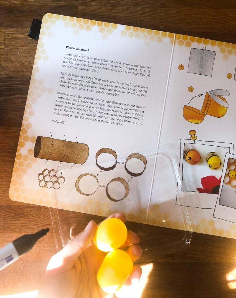 Bienen basteln, Bienenbuch für Kinder