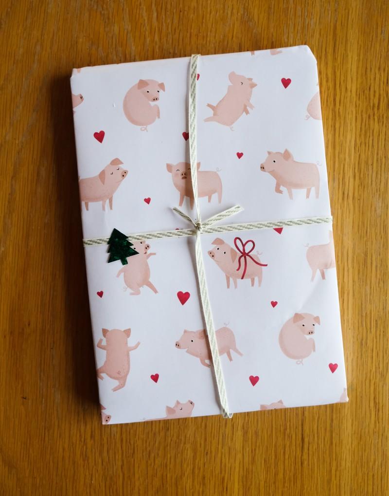 Schweinchen Geschenkpapier