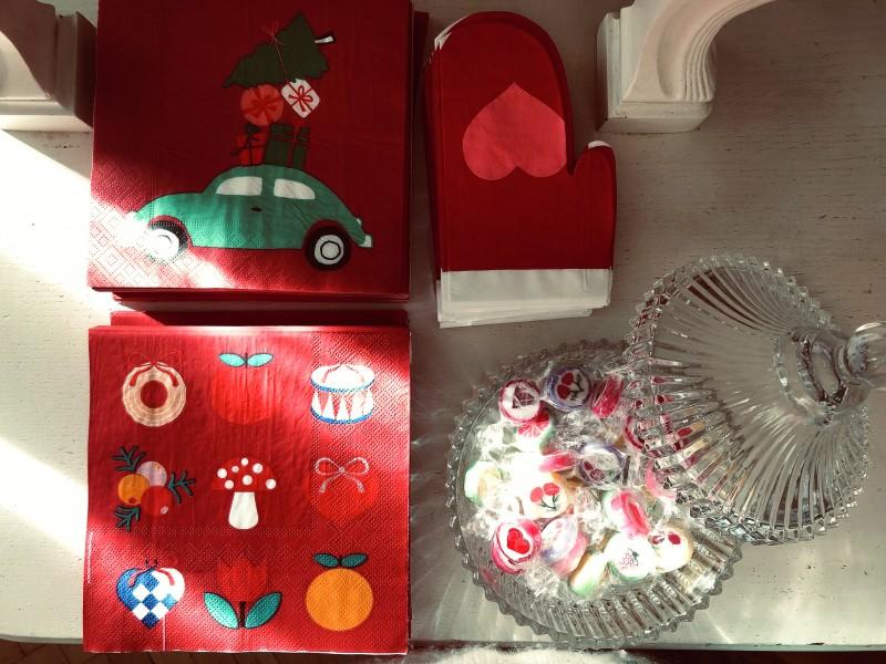 Weihnachtsbrunch, Ideen, Weihnachten mit Freunden, Weihnachtsservietten,