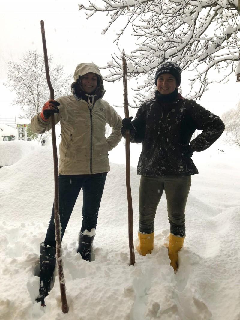 Freu Freudig, Schnee, Winter in den Bergen