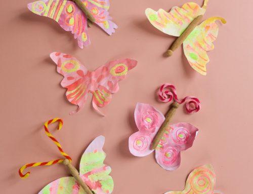 Jetzt erst Recht: Wir basteln kunterbunte Schmetterlinge für die große Frühlingsfreiheit