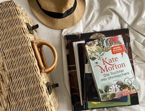 Ein Koffer voll Bücher für unsere Ferien