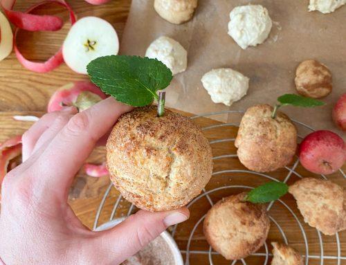 Wir backen zuckersüße Apfelbrötchen fast ohne Zucker