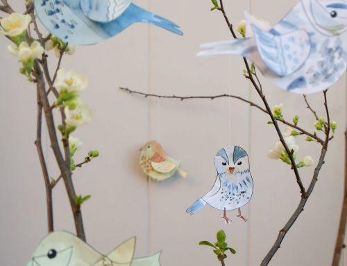 Hello, Frühling! Hier kommen hübsche Vögel zum Selberbasteln